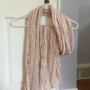 Accessories - Pink and gold scarf